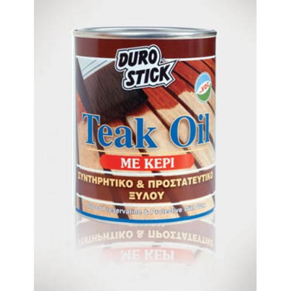 DUROSTICK TEAK OIL -750ml- Συντηρητικό και προστατευτικό ξύλου Προϊοντα Χρώματα - seferis-xromata.gr