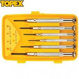 Σετ κατσαβίδια ακριβείας 6τεμ. TOPEX Προϊοντα Χρώματα - seferis-xromata.gr